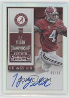 Rookie Ticket RPS - T.J. Yeldon (College) #/25