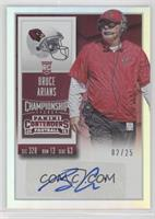 Coaches Ticket - Bruce Arians /25