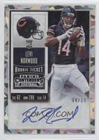 Rookie Ticket - Levi Norwood (Team Logo) /23