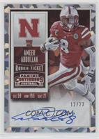Rookie Ticket RPS - Ameer Abdullah (College) /23
