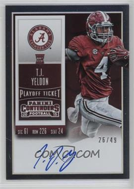 2015 Panini Contenders - [Base] - Playoff Ticket #236.3 - Rookie Ticket RPS - T.J. Yeldon (College) /49