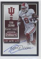 Rookie Ticket RPS - Tevin Coleman (College) #/49