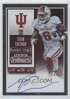 Rookie Ticket RPS - Tevin Coleman (College) #/49