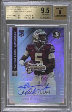 2015 Panini Contenders Draft Picks - [Base] - Championship Ticket #122.1 - Jameis Winston (Base) /1 [BGS 9.5 GEM MINT]