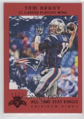 2015 Panini Gridiron Kings - All Time Stat Kings - Red Framed #200 - Tom Brady