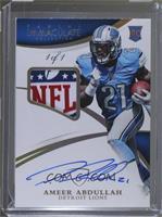 Rookie Patch Autographs - Ameer Abdullah #/1