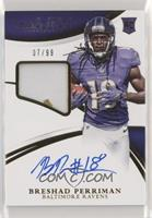 Rookie Patch Autographs - Breshad Perriman [Noted] #/99