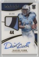 Rookie Patch Autographs - David Cobb #/44