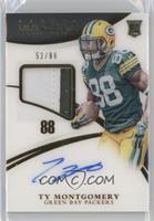 Rookie Patch Autographs - Ty Montgomery #/88
