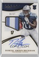 Rookie Patch Autographs - Dorial Green-Beckham [Noted] #/17