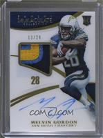 Rookie Patch Autographs - Melvin Gordon #/28