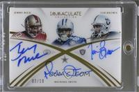 Jerry Rice, Tim Brown, Michael Irvin #/10