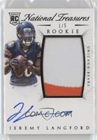 Rookie Autograph Patch (RPS) - Jeremy Langford #/5