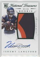Rookie Autograph Patch (RPS Numbers) - Jeremy Langford #/36