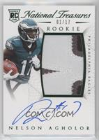Rookie Autograph Patch (RPS Numbers) - Nelson Agholor /17
