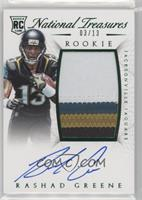 Rookie Autograph Patch (RPS Numbers) - Rashad Greene #/13