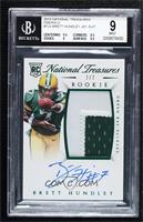 Rookie Autograph Patch (RPS Numbers) - Brett Hundley [BGS 9 MINT] #/7