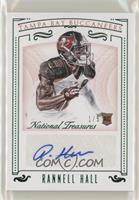 Rookie Signatures - Rannell Hall #/5