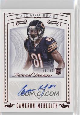 2015 Panini National Treasures - [Base] - Jersey Number Red #187 - Rookie Signatures - Cameron Meredith /81
