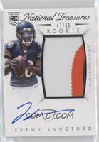 Rookie Autograph Patch (RPS) - Jeremy Langford #/99
