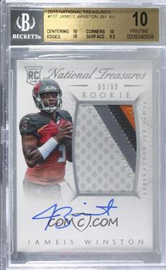 2015 Panini National Treasures - [Base] #107 - Rookie Autograph Patch (RPS) - Jameis Winston /99 [BGS 10 PRISTINE]
