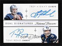 Troy Aikman, Tony Romo #/20