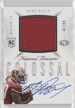 2015 Panini National Treasures - Rookie Colossal Materials Signatures #RCO-MD - Mike Davis /99