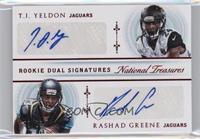 Rashad Greene, T.J. Yeldon #/25