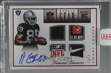 2015 Panini National Treasures - Rookie NFL Gear Quad Signatures - Prime #RNG-AC - Amari Cooper /1 [Uncirculated]