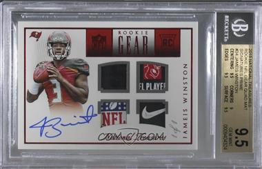 2015 Panini National Treasures - Rookie NFL Gear Quad Signatures - Prime #RNG-JW - Jameis Winston /1 [BGS 9.5 GEM MINT]