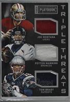 Joe Montana, Peyton Manning, Tom Brady /25