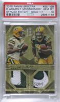 Davante Adams, Ty Montgomery [PSA 10 GEM MT] #/1