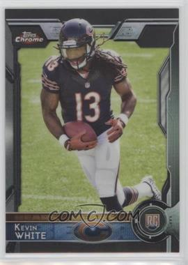 2015 Topps Chrome - [Base] - Black Refractor #125 - Rookies - Kevin White /299
