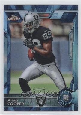 2015 Topps Chrome - [Base] - Hot Box Blue Diamond Refractor #115 - Rookies - Amari Cooper