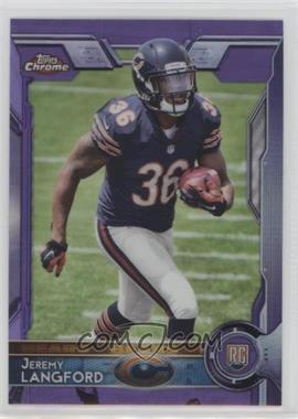 2015 Topps Chrome - [Base] - Purple Refractor #142 - Rookies - Jeremy Langford
