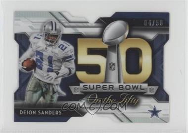 2015 Topps Chrome Mini - Super Bowl 50 Die-Cut - Refractor #SBDC-DS - Deion Sanders /50