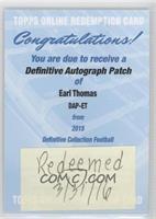 Earl Thomas [BeingRedeemed]