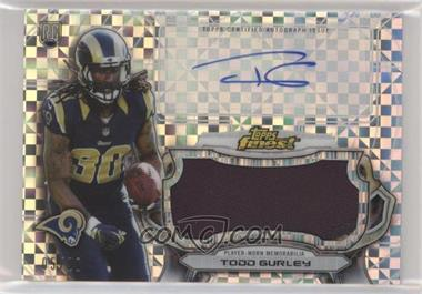 2015 Topps Finest - Autographed Jumbo Relic Refractor - X-Fractor #AJRR-TG - Todd Gurley /20