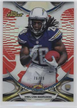 2015 Topps Finest - [Base] - Red Refractor #80 - Melvin Gordon /99