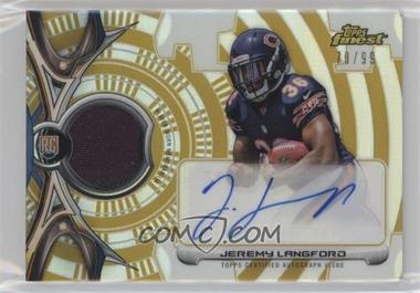 2015 Topps Finest - Rookie Refractor Autographed Patch - Gold Refractor #RRAP-JL - Jeremy Langford /99