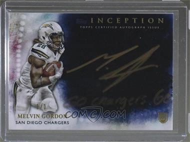 2015 Topps Inception - Gold Signings - Inscriptions #GS-MG - Melvin Gordon /1