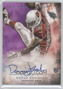 2015 Topps Inception - Rookie Autographs - Purple #RA-27 - David Johnson /150