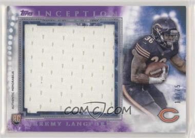 2015 Topps Inception - Rookie Jumbo Relics - Purple #RJR-JL - Jeremy Langford /75