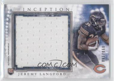 2015 Topps Inception - Rookie Jumbo Relics #RJR-JL - Jeremy Langford /140