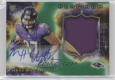 2015 Topps Platinum - Autographed Rookie Patches - Green Refractor #ARP-MW - Maxx Williams /99