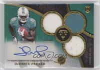 Rookie Autographed Triple Relics - DeVante Parker #/50