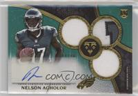 Rookie Autographed Triple Relics - Nelson Agholor #/50