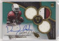 Rookie Autographed Triple Relics - David Johnson #/50