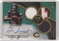 Rookie Autographed Triple Relics - Jeremy Langford #/50