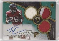 Rookie Autographed Triple Relics - Tevin Coleman #/50